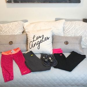 Nike | Warm Up Leggings Sandal Bundle sz M